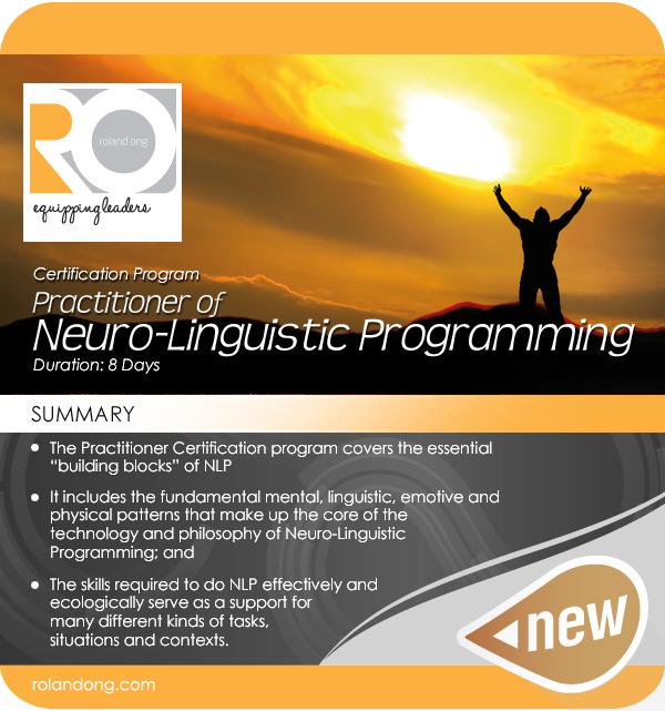Neuro Linguistic Programming: Certifying Practitioners Of Neuro-Linguistic Programming